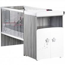Pack trio lit bébé combiné évolutif et tiroir New Nao (60 x 120 cm)  par Baby Price