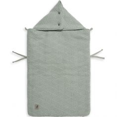 Nid d'ange passe sangle en tricot River knit vert cendre (78 cm)