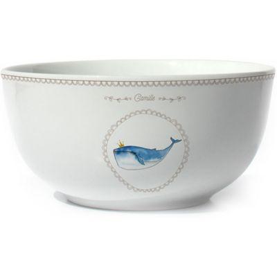 Bol en porcelaine Baleine (personnalisable)