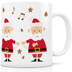 Mug céramique Le Père Noël dans le floss (330 ml)
