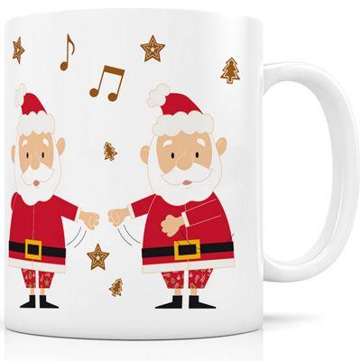 Mug céramique Le Père Noël dans le floss (330 ml)  par Signature Label Tour