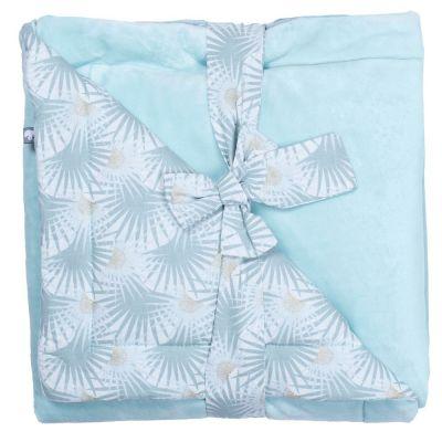 Couverture polaire Palmier céladon Luxe Minky (70 x 100 cm)  par BB & Co