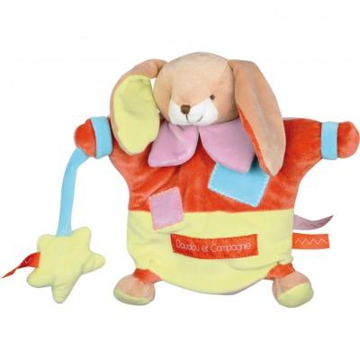 Doudou marionnette Zigag lapin (22 cm)  par Doudou et Compagnie
