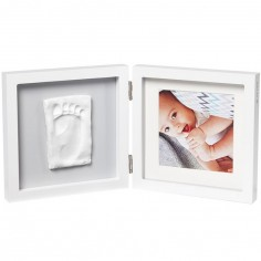 Cadre photo empreinte My Baby Style simple gris