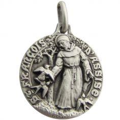 Médaille St François aux oiseaux (argent 925°)