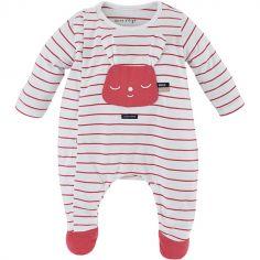 Pyjama léger rayé rouge Lapin (3 mois)