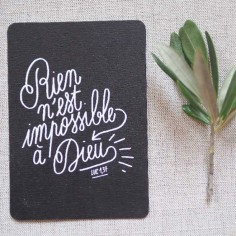 Petite carte Rien n'est impossible à Dieu