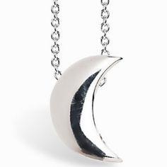 Collier chaîne 40 cm pendentif Full lune 07 mm (argent 925°)
