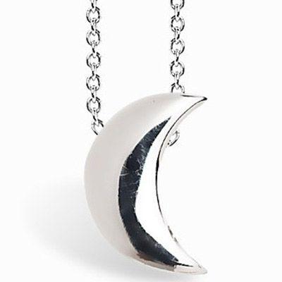 Collier chaîne 40 cm pendentif Full lune 07 mm (argent 925°)  par Coquine