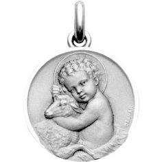 Médaille Enfant Jésus et brebis (argent 925°)
