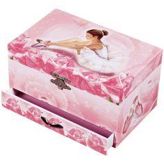 Boîte à bijoux musicale phosphorescente Ballerine fleur