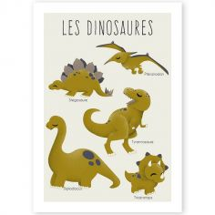 Affiche A3 Les Dinosaures