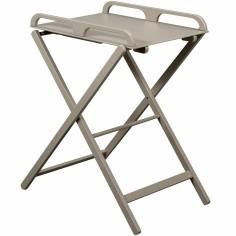 Table à langer pliante Jade en bois massif laqué gris clair