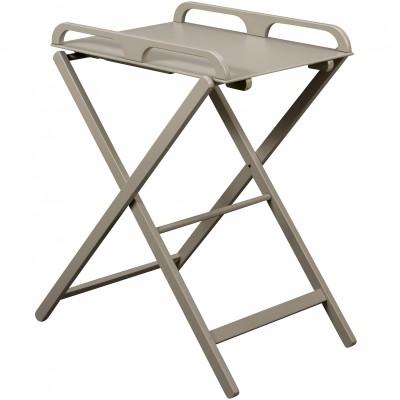Table à langer pliante Jade en bois massif laqué gris clair  par Combelle