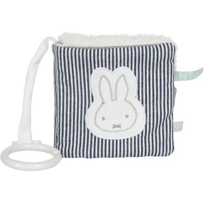 Livre bébé en tissu lapin Miffy marinière  par Pioupiou et Merveilles