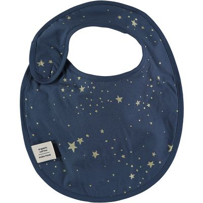 Bavoir à velcro Candy Gold stella Night blue (34 cm)