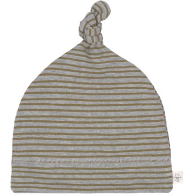 Bonnet en coton bio Cozy Colors rayé gris chiné (3-6 mois)  par Lässig