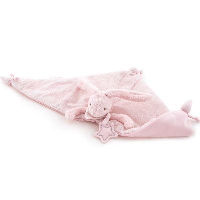Doudou plat Baby Etoile lapin rose (51 x 25 cm) Pasito a pasito