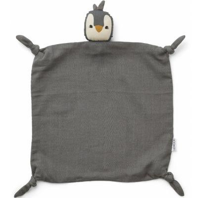 Doudou plat Agnete Pingouin stone grey