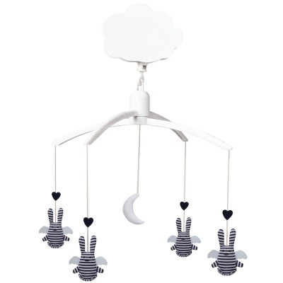 Mobile musical Ange lapin marinière  par Trousselier
