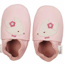 Chaussons en cuir Soft soles renard rose (3-9 mois)  par Bobux