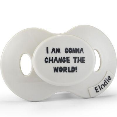 Sucette physiologique Change The World (3 mois et +)  par Elodie Details