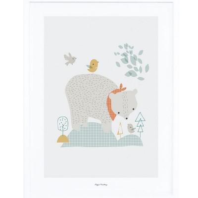 Affiche encadrée l'ours des bois (30 x 40 cm)  par Lilipinso