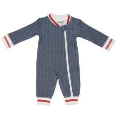 Pyjama chaud Cottage bleu (0-3 mois)