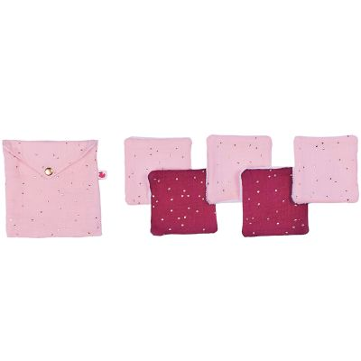 Lot de 5 lingettes lavables Girly Chic (10 x 10 cm)  par BB & Co
