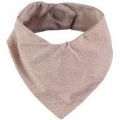 Bavoir bandana Lucky coton bio White bubble Misty pink - Nobodinoz