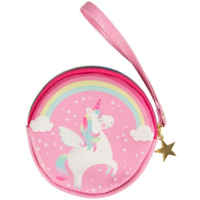 Porte monnaie Betty la licorne arc-en-ciel