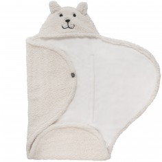 Couverture nomade teddy Bear blanc (0-3 mois)