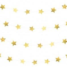 Guirlande en papier étoiles dorées