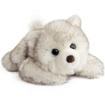 peluche chien husky signature 30 cm par histoire d 39 ours. Black Bedroom Furniture Sets. Home Design Ideas