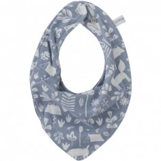 Bavoir bandana Adventure blue
