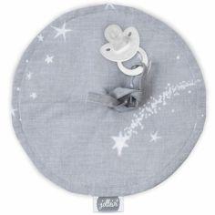 Doudou attache sucette Galaxy gris (20 cm)