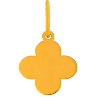 Mini pendentif croix romane sur cordon (or jaune 18 carats)  par Maison La Couronne
