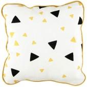 Coussin carré Joe Confettis noir et jaune miel - Nobodinoz