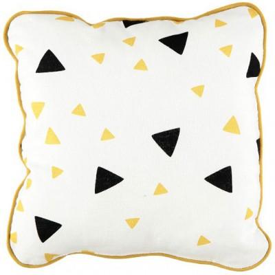coussin carr joe confettis noir et jaune miel nobodinoz. Black Bedroom Furniture Sets. Home Design Ideas