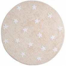 Tapis lavable Etoiles beige (diamètre 140 cm)  par Lorena Canals