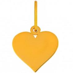 Pendentif Mini Breloque Coeur 10 mm (or jaune 750°)