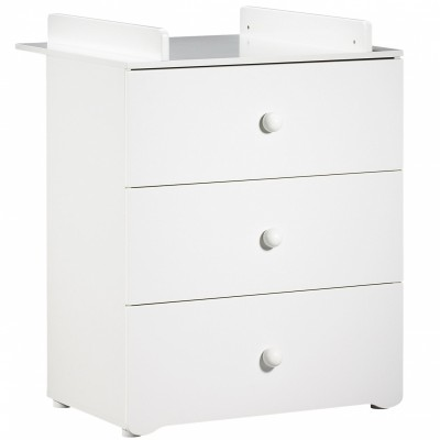 Commode à langer New Basic Boutons boule blancs  par Baby Price