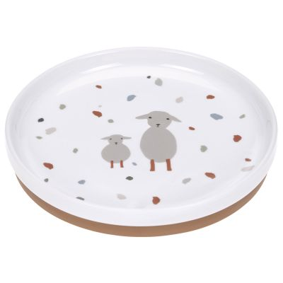 Assiette en porcelaine Tiny Farmer mouton et oie