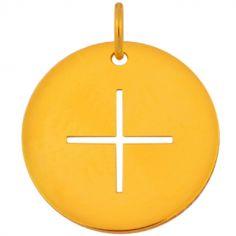 Médaille croix grecque fine (or jaune 18 carats)