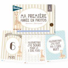 Cartes photos souvenirs Ma première année Sophie La Girafe (24 cartes)