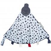 Doudou réversible étoiles bleues avec embout de dentition - Cheeky Chompers