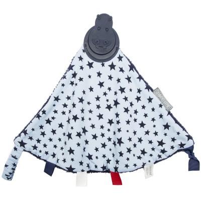Doudou réversible étoiles bleues avec embout de dentition Cheeky Chompers