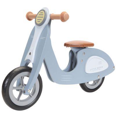 Draisienne scooter en bois blue  par Little Dutch