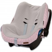 Housse pour siège-auto groupe 0+ Cable Soft rose - Baby's Only