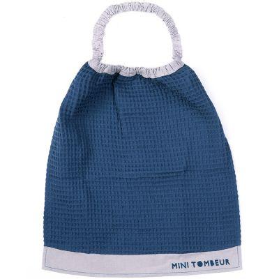 Bavoir passe-tête bleu Mini tombeur  par BB & Co